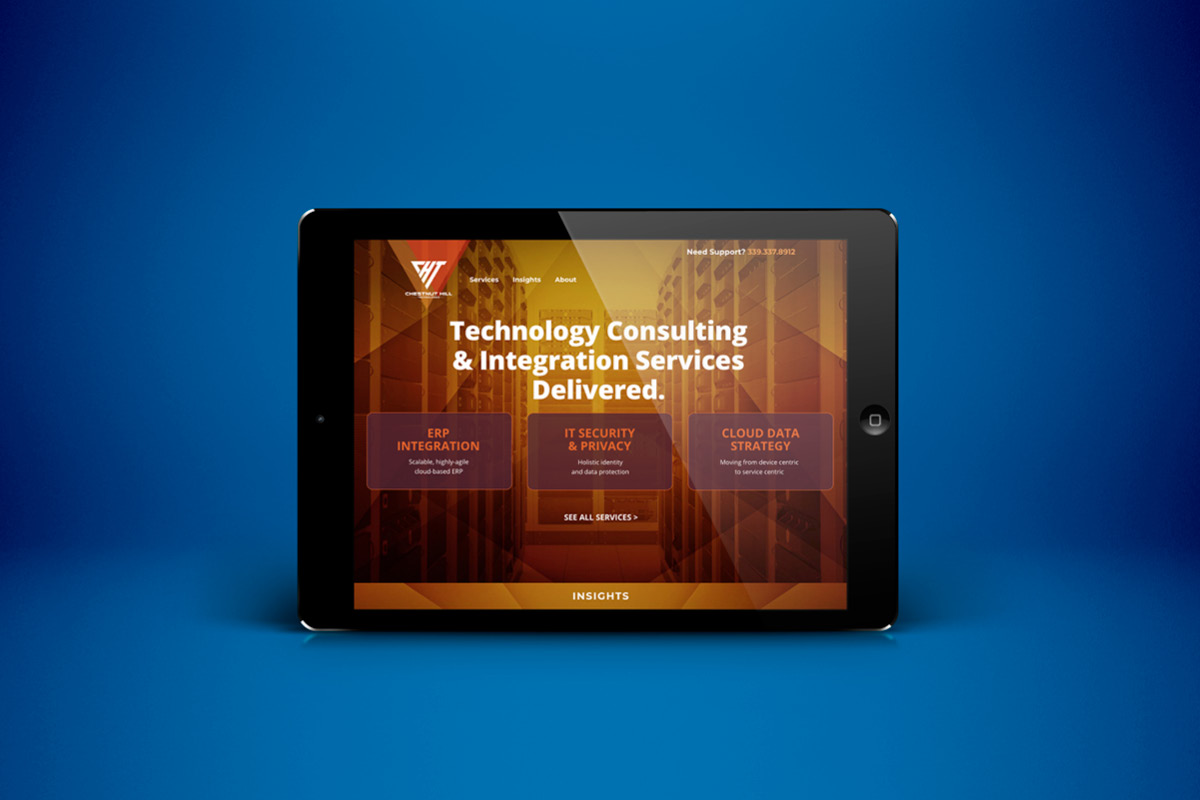 Chestnut Hill Technologies Site on Tablet