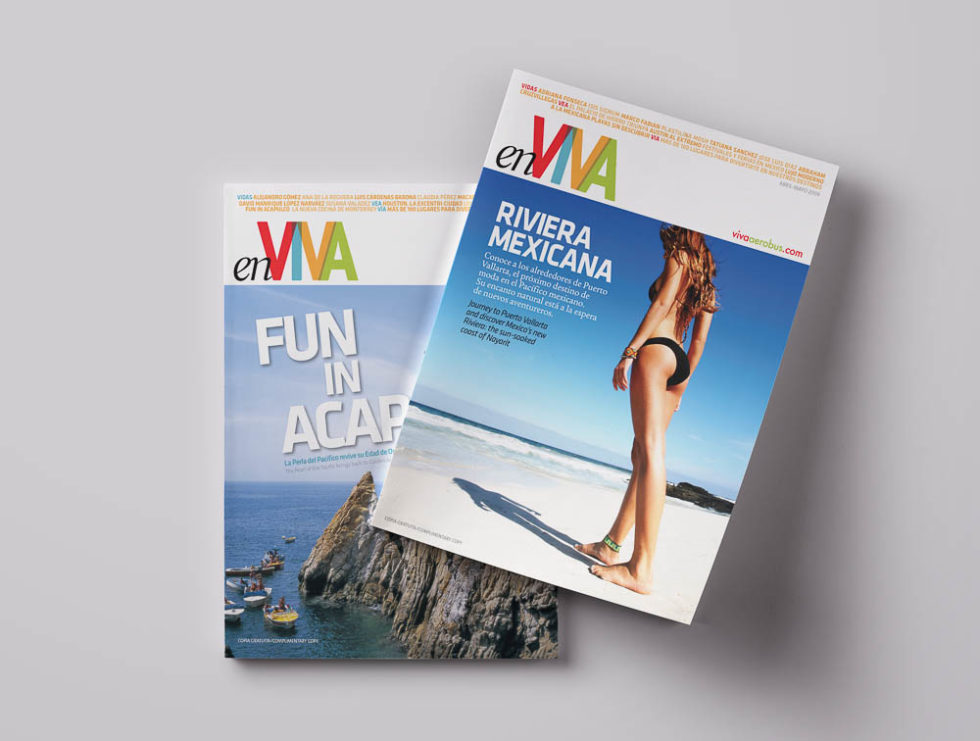 Covers from Enviva Magazine.